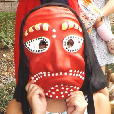 Древняя маска для юной хабаровчанки