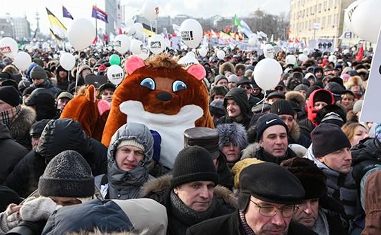 Неменее 80% граждан России неготовы участвовать вакциях протеста