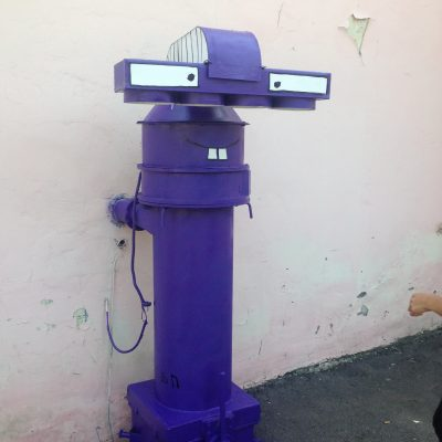 Фиолетовый инопланетянин Гарри (рядом с ул.Синельникова, 17)