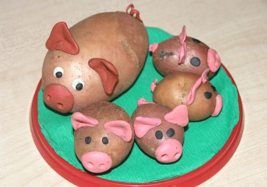 Поделки из овощей своими руками для детей в детский сад