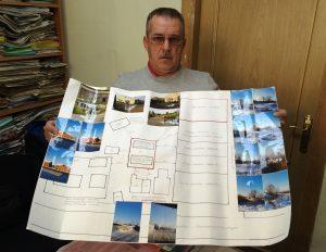 Схема, которую составил Андрей Кислов, доказывает надуманность «причин», по которым Хабаровский район не дает земли ветерану. Фото Станислава Глухова