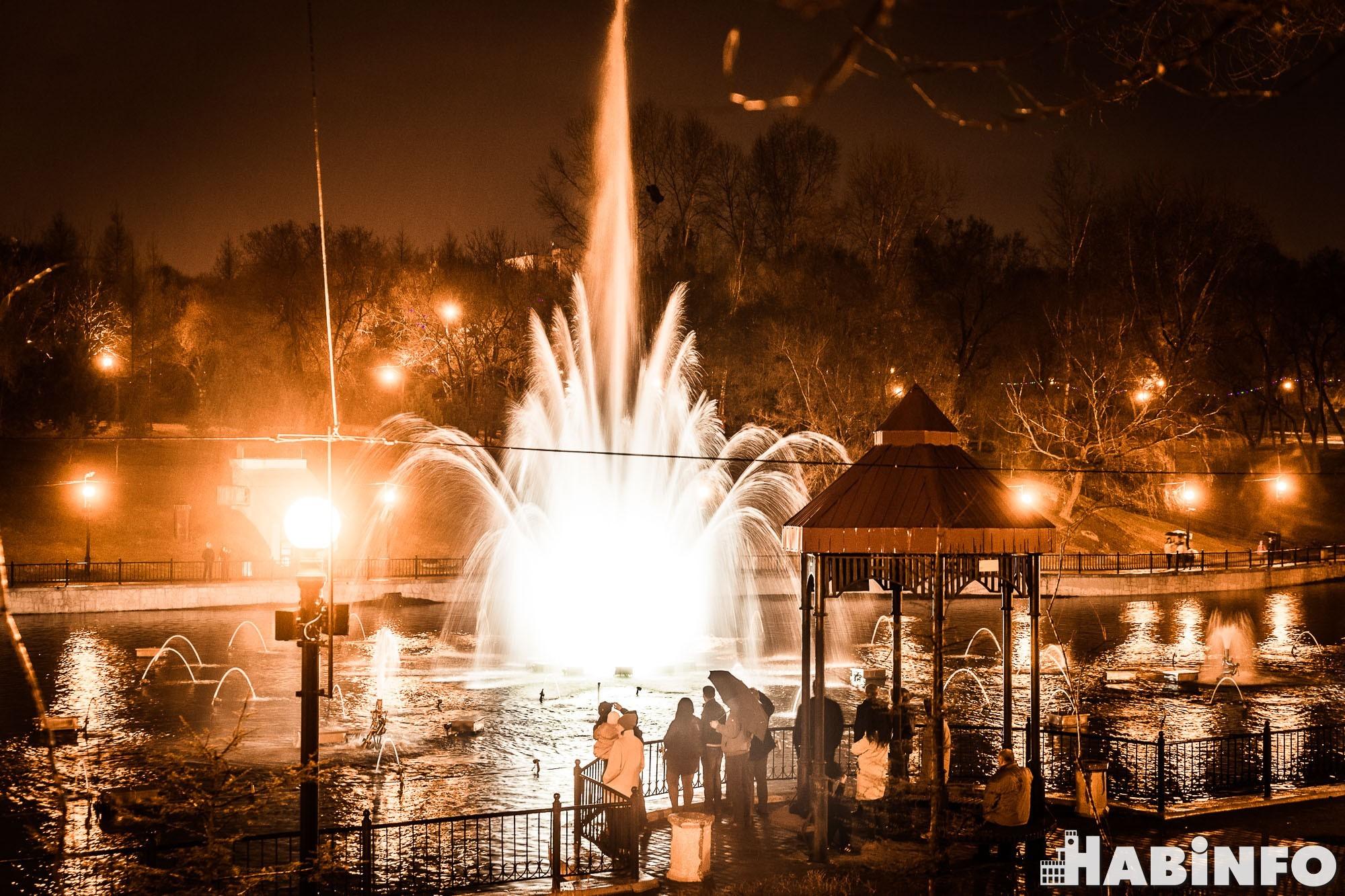 В Хабаровске открылся сезон танцующих фонтанов