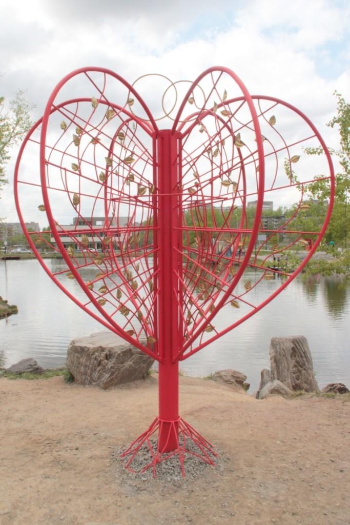 Для молодоженов в Северном парке выросло «Дерево любви»