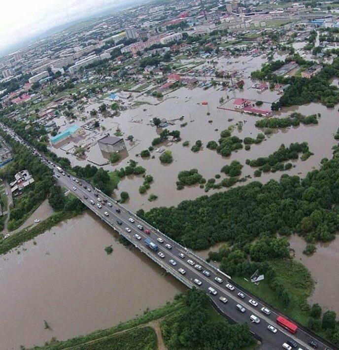 Приморье залило дождями - фото очевидцев с места событий
